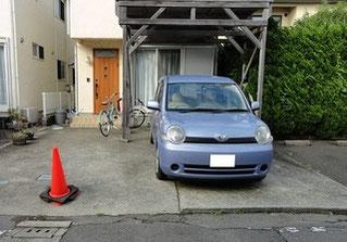 観光地近くの個人宅駐車場
