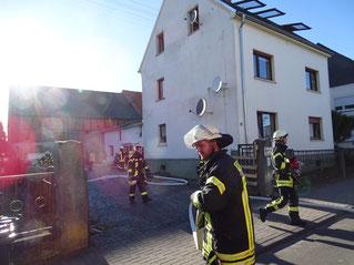 Wohnhausbrand Lindenholzhausen