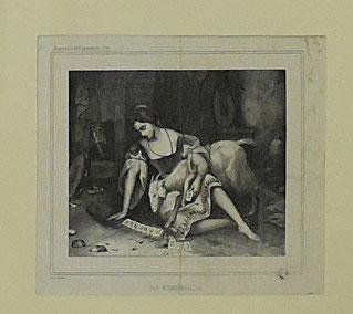Auguste Bouquet, La Esmeralda, lithographie, XIXe / Abbeville, Musée Boucher-de-Perthes / ph J.H.