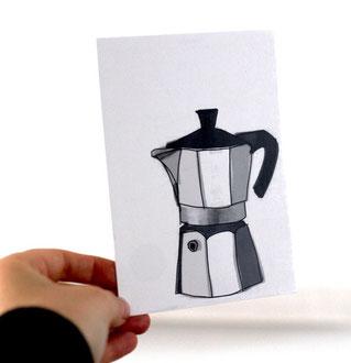 Postkarte Kaffee