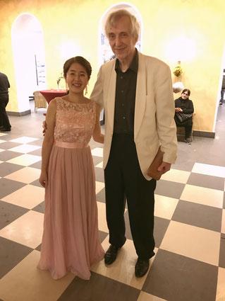mit Herrn Riemer リーマー氏と