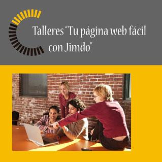 """Talleres """"Tu página web fácil con Jimdo"""""""