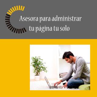 Asesora para administrar tu página web tu solo