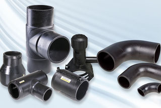 AGRU PE 100-RC HDPE injection moulded fittings