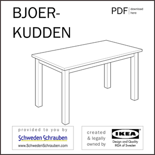 BJOERKUDDEN Anleitung manual IKEA Tisch