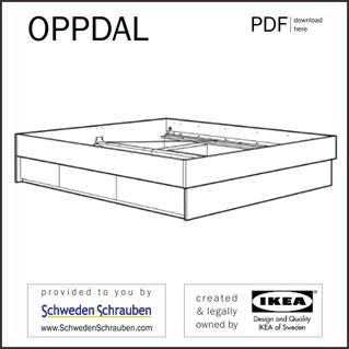OPPDAL Anleitung manual IKEA Bettgestell
