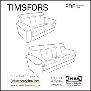 TIMSFORS Anleitung manual IKEA Sofa