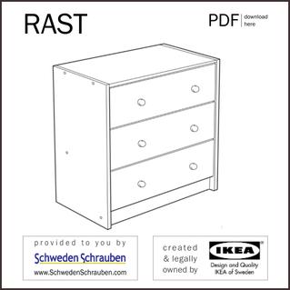 RAST Anleitung manual IKEA Kommode