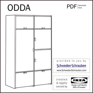 ODDA Anleitung manual IKEA Kleiderschrank