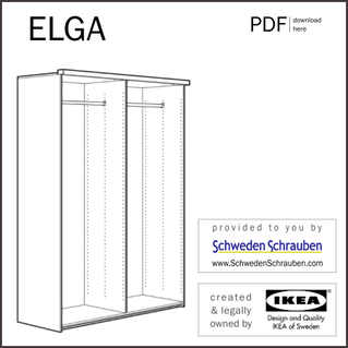 ELGA Anleitung manual IKEA Kleiderschrank