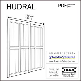 HUDRAL Anleitung manual IKEA Schrank Schiebetüren