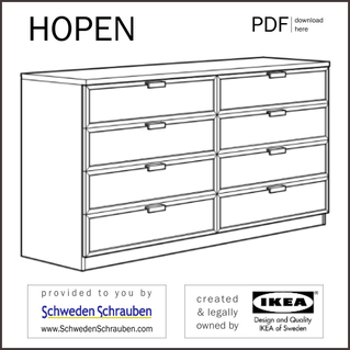 HOPEN Anleitung manual IKEA Kommode