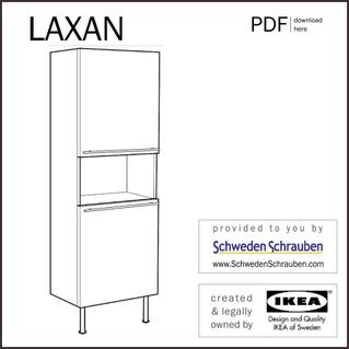 LAXAN Anleitung manual IKEA Schrank