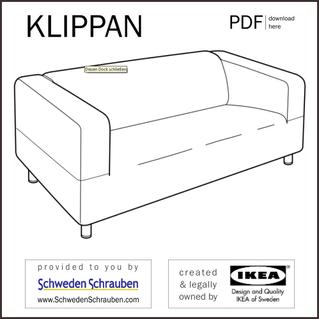 KLIPPAN Anleitung manual IKEA Sofa