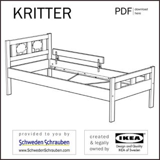 KRITTER Anleitung manual IKEA Kinderbett