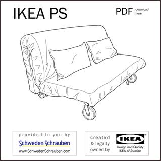 IKEA PS Anleitung manual IKEA Sofa