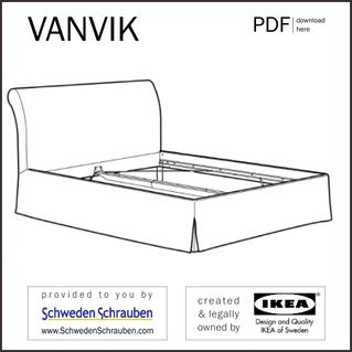 VANVIK Anleitung manual IKEA Bettgestell