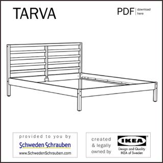 TARVA Anleitung manual IKEA Bettgestell