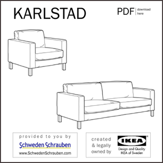 KARLSTAD Anleitung manual IKEA Sofa