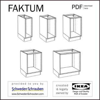 FAKTUM Anleitung manual IKEA Küchenschrank