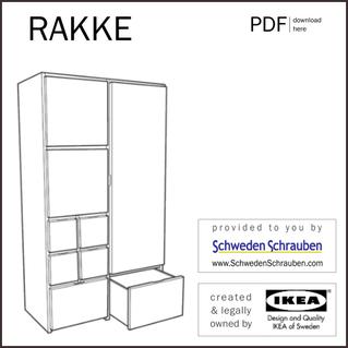 RAKKE Anleitung manual IKEA Kleiderschrank