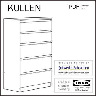 KULLEN Anleitung manual IKEA Kommode