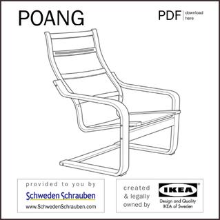 POAENG Anleitung manual IKEA Sessel