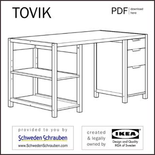TOVIK Anleitung manual IKEA Schreibtisch
