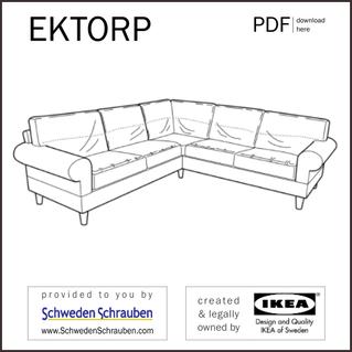 EKTORP Anleitung manual IKEA Sofa