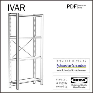 IVAR Anleitung manual IKEA Regal