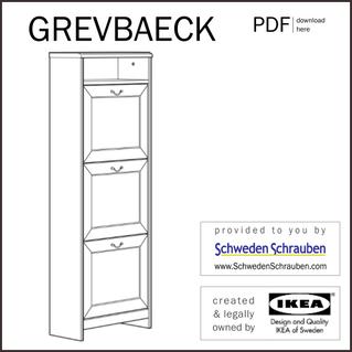 GREVBAECK Anleitung manual IKEA Schuhschrank