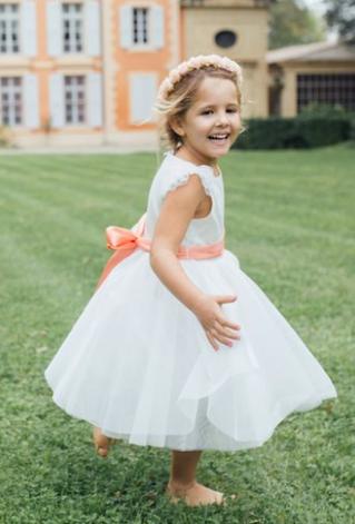 Robe cérémonie fille Aurore Les Petits Inclassables