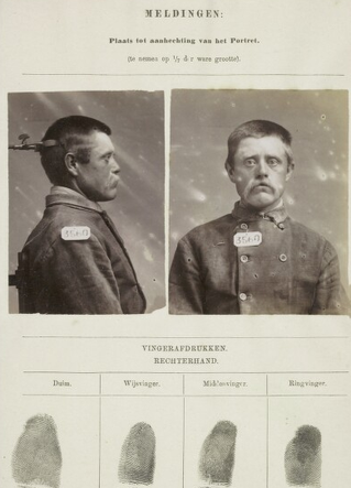 Signalementskaart Veenhuizen opname: 18-06-1896