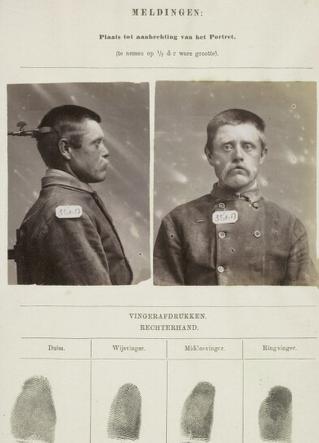 Signalementskaart Veenhuizen opname 18-06-1896