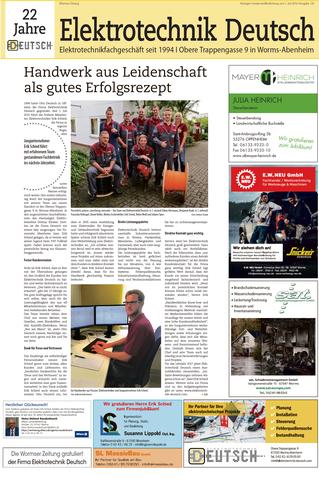 Jubiläum Elektrotechnik Deutsch Erik Schied und Mitarbeiter