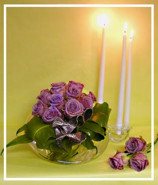 Fleurs et Décors - composition réalisée pour les 30 ans de l'association