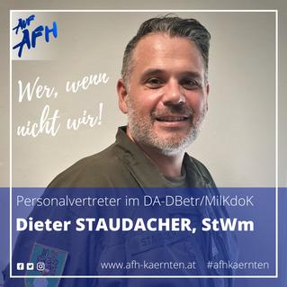 Personalvertreter im DBetr/MilKdoK: Dieter Staudacher