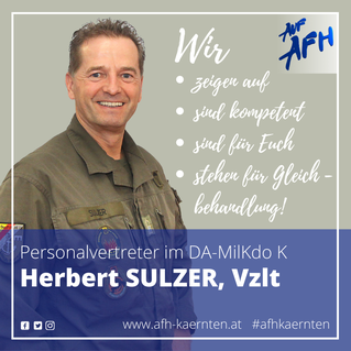 Personalvertreter im DA-MilKdoK: Herbert Sulzer