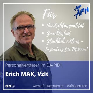 Spitzenkandidat PiB1: Erich Mak