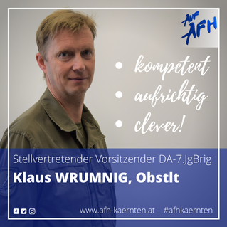 Stv. Vorsitzender im DA-7.JgBrig: Klaus Wrumnig