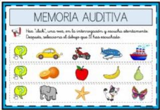 ESCUCHAR Y SELECCIONAR LOS DIBUJODS OIDOS (Memoria auditiva)