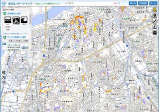 枚方市 土砂災害のハザードマップ