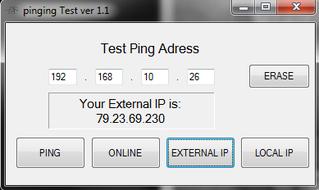 "Vista pagina inziale con richiesta di ""external IP"""