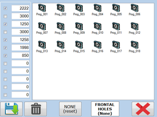 Vista pagina creazione programmi