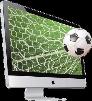 Tor am iMac, Fussball als Metapher für beste Leistung zur richtigen Zeit am richtigen Ort