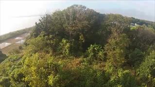 大型重機の開墾現場をドローン空撮