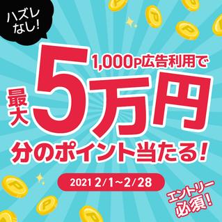 最高5万円チャンス
