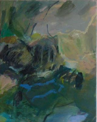 Im stillen Wechsel 2010 100 x 80 cm Öl / Leinwand