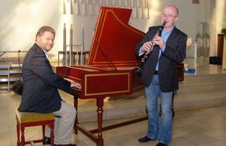 Eddy Mioska,  Klarinette  - Ludger Morck,  Cembalo und Orgel
