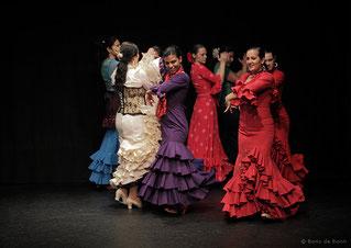 "Flamencotanz bei der Fiesta Flamenca ""Fin de año"" 2011 im Tanzstudio La Fragua in Bonn/Color-Foto by Boris de Bonn"